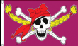 5ft x 3ft Girls Large 100D Pirate Ship Jolly Roger Skull and Crossbones Flag